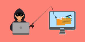 Hacker phishing attempt, personal confidential data theft