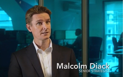 screenshot from financial services video